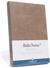 Bella Donna Edel-Frottee Spannbetttuch in 90x200 bis 100x220, für Wasserbetten und Matratzen (0522-hellblau)