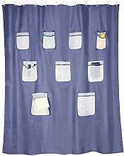 BellaBad Duschvorhang mit Taschen für