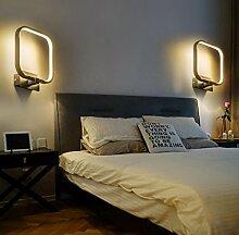 Bellabrunnen 15W LED Wandleuchte Moderne Quadratische Ringförmige Wandlampe aus Metall mit Weißer Oberfläche Dekorative Wandbeleuchtung für Innen 20*24*7CM Warmweiß