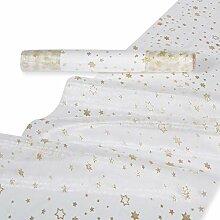 Bellaflor Organza Tischläufer mit Glittersterne