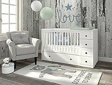 Bellamy Babyzimmer Kinderbett Babybett Gitterbett weiß Möbel Paso Doble