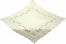Bellanda 1251-85x85 eckig Tischdecke, Polyester, Rose, 85 x 85 x 0.5 cm
