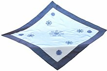 Bellanda 2074-85x85 eckig Tischdecke, 50% Polyamide, 50% Polyester, Blau, 85 x 85 x 0.50 cm