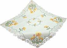 Bellanda 3338-85x85 eckig Tischdecke, Polyester, Weiß, 85 x 85 x 0.5 cm
