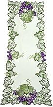 Bellanda 3407-40x110 eckig Tischläufer, Polyester, Weiß, 110 x 40 x 0.5 cm
