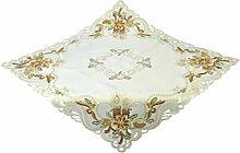 Bellanda 3622-85x85 eckig Tischdecke, Polyester, Sekt, 85 x 85 x 0,50 cm