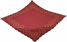 Bellanda 3631-110x110 eckig Tischdecke, Polyester, rot, 110 x 110 x 0,50 cm