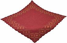 Bellanda 3631-85x85 eckig Tischdecke, Polyester, rot, 85 x 85 x 0,50 cm