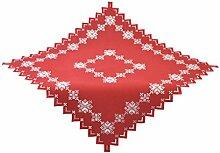 Bellanda 3864 Tischdecke, Polyester, eckig, rot, 85 x 85 x 0,50 cm