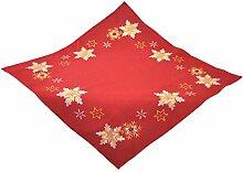 Bellanda 3868-85x85 eckig Tischdecke, Polyester, rot, 85 x 85 x 0,50 cm