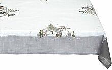 Bellanda 3869-85x85 eckig Tischdecke, Polyester, weiß, 85 x 85 x 0,50 cm