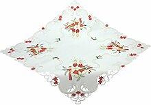 Bellanda 3873-85x85 eckig Tischdecke, Polyester, weiß, 85 x 85 x 0,50 cm