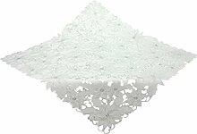 Bellanda 3874-85x85 eckig Tischdecke, Polyester, weiß, 85 x 85 x 0,50 cm