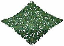 Bellanda 3876-110x110 eckig Tischdecke, Polyester, Grün, 110 x 110 x 0,50 cm