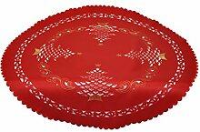 Bellanda 79665S-85 Rund Tischdecke, Polyester, Rot, 85 x 85 x 0.5 cm