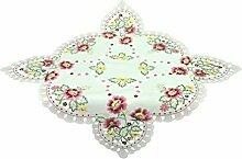 Bellanda 82183- 85x85 cm eckig Tischdecke Polyester sekt, 85 x 85 cm, rosa