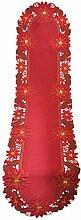 Bellanda 83279BA-40x160 oval Tischläufer, Polyester, rot, 160 x 40 x 0,50 cm
