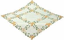 Bellanda 87167-85x85 cm eckig Tischdecke Polyester Blätter, 85 x 85 cm,