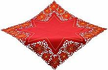 Bellanda Tischdecke, Polyester, rot, 100x100 cm