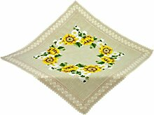 Bellanda Tischdecken Polyester Natur 100x100 cm