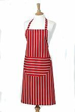 Belle-Küchentextilien butchers-stripe standard Kochschürze, 68 x 87 cm, Ro