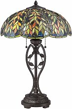 Belle Lampe, kaiserliche Bronze und Tiffany Glas