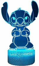 Belle Stitch 3D LED Nachtlicht Lilo & Stitch 16