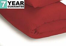 Belledorm Bettbezug–unifarben 200Fadenzahl, Baumwollmischung, Rot, Doppelbe