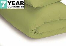 Belledorm Bettbezug–unifarben 200Fadenzahl, Baumwollmischung, olivgrün, King Size