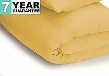 Belledorm Bettbezug–unifarben 200Fadenzahl, Baumwollmischung, Safrangelb, Einzelbe