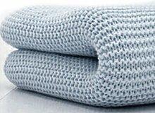 Belledorm Decke/Überwurf für Bett oder Sofa, 100 % Baumwolle , baumwolle, blau, Doppelbe