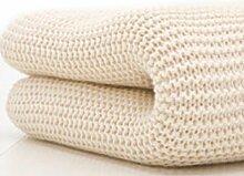 Belledorm Decke/Überwurf für Bett oder Sofa, 100 % Baumwolle , baumwolle, cremefarben, Einzelbe