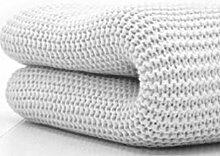 Belledorm Decke/Überwurf für Bett oder Sofa, 100 % Baumwolle , baumwolle, weiß, Doppelbe