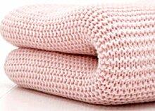 Belledorm Decke/Überwurf für Bett oder Sofa, 100 % Baumwolle , baumwolle, rose, Einzelbe