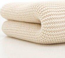 Belledorm Wolldecke mit breiten Maschen für Einzelbett, 100% Baumwolle, cremefarben