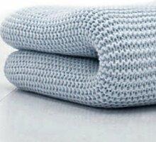 Belledorm Wolldecke mit breiten Maschen für Einzelbett, 100% Baumwolle, blau
