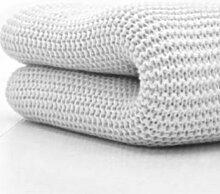 Belledorm Wolldecke mit breiten Maschen für King Size, 100% Baumwolle, weiß
