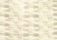 Belledorm Wolldecke mit breiten Maschen für King Size, 100% Baumwolle, creme