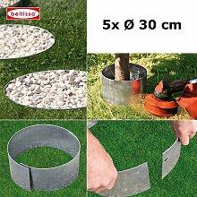bellissa 5er Set Rasenkante Kreis Beetumrandung,