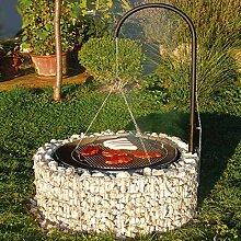 bellissa Feuer- und Grillstelle aus Gabionen -