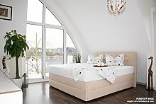 bellvita silverline Wasserbett BOXSPRING-Optik