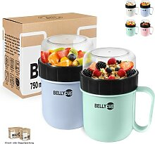 BELLYCUP Müslibecher To Go - in Mint, Grau, Rosa