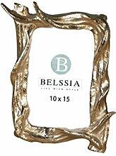 Belssia Fotohalter REH, Metall, Gold, 16x 19x