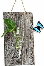 belupai Holz Modern Stil Hängende Blumentopf Glas
