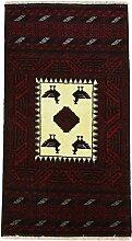 Belutsch Teppich Orientteppich 161x83 cm, Läufer Handgeknüpft Klassisch