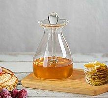 Bely Honigglas mit Dipper und Deckel,