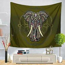 Bemalte Elefantenwandteppiche, bedruckte Wandtafel