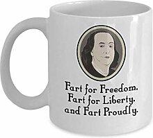 Ben Franklin Fart Proudly Mug | Benjamin Franklin