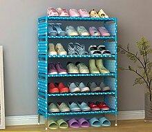 Benbroo 7 Tier Schuh Rack Speicher Organizer Staubdicht Stand Schuh Regal Speicher Organizer Einfache Montage himmelblau