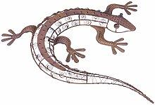 Benelando® Gartenfigur Gecko 59 cm aus Metall